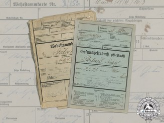 Germany. An Army Service Record & Health Book to Adolf Gerlach