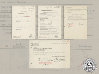 Germany. The file of SS Administrative Leader SS-Unterscharführer Helmut Meyer, Expelled from SS for Embezzlement