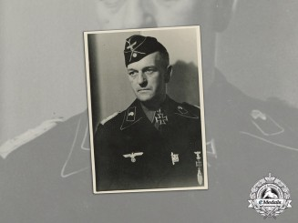 Germany. A Wartime Photo of Panzer Commander Major General Erich Fronhöfer, KC