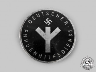Germany, Third Reich. A Women's Auxiliary Service Badge, by Alfred Stübbe