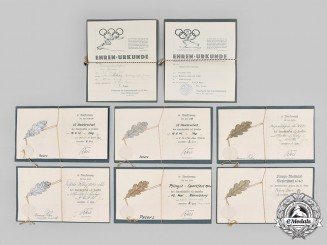 Germany, DRL. A Set of DRL/NSRL Sports Competition Certificates to Hans Peters
