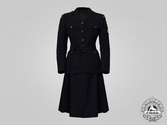 Canada, Commonwealth. A Canadian Red Cross Corps Tunic and Skirt, worn by B. Harvey, by Eaton, 1944