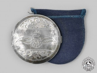Canada, Commonwealth. An RCAF Sweetheart Silver Compact, c. 1943