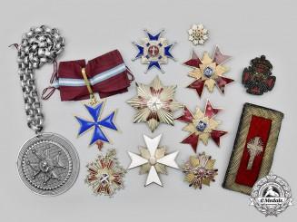 International. A Lot of Twelve Orders, Crosses and Insignia