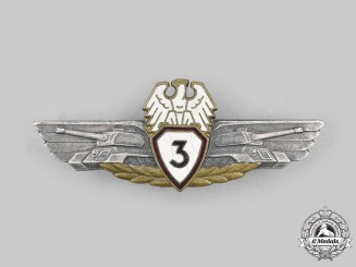 Poland, People's Republic. A Tank Qualification Badge, III Class