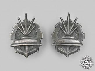 Poland, Republic. Two Polish Army/Navy Sapper Collar Badges