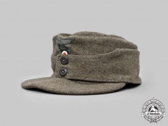 Germany, Heer. An EM/NCO's M43 Field Cap, by Herman Potthoff