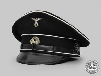 Germany, SS. An Allgemeine SS EM/NCO's Visor Cap, RZM-Marked