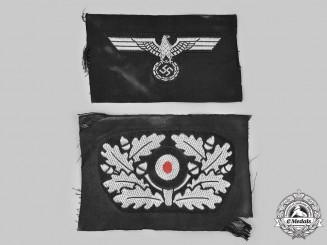 Germany, Heer. A Pair of Panzer Cap Insignia