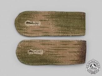 Germany, Luftwaffe. A Rare Set of Luftwaffe Field Division Splinter Pattern Camouflage Shoulder Straps
