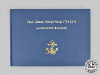 United Kingdom. Naval General Service Medal 1793-1840 - Alphabetical Roll of Recipients