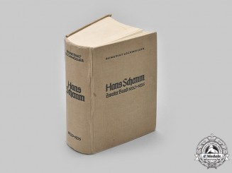 Germany, Third Reich. A 1940 Edition of Hans Schemm: Zweiter Band, 1920-1935, by Benedikt Lochmüller