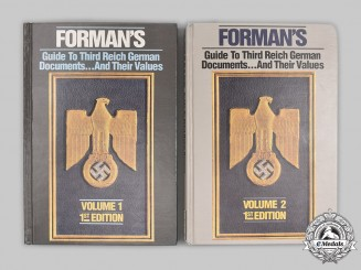 Germany, Third Reich. Forman's Guide to Third Reich German Documents...And Their Values, Volumes 1 and 2