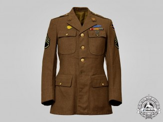 United States. A Staff Sergeant Dress Tunic with Post-War Rangers Patch, c.1945