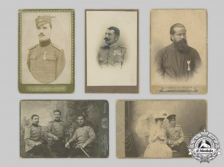Serbia, Kingdom. A Lot of Portraits of Military Officers and Clergy