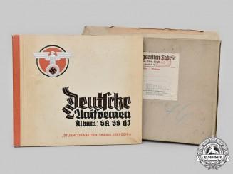 Germany, Third Reich. A Complete German Uniform Cigarette Album, by Sturm Cigarette Company