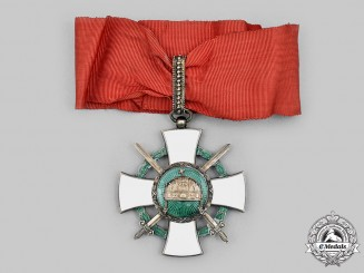 Hungary, Regency. An Order of the Holy Crown, III Class Commander with War Decoration 1942