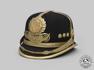 Bohemia & Moravia, Protectorate. A Municipal Police Officer-Grade Felt Helmet, by Jan Malina