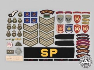 Canada, United Kingdom, United States. Lot of Sixty-Four Military Items
