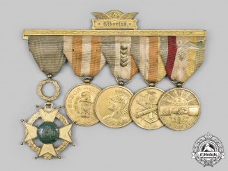 Cuba, Republic. An Order of Military Merit & Distinguished Service Medal Bar