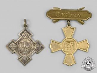 Cuba, Republic. Two Veteran's Awards