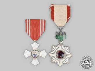Japan, Empire. Two Awards & Decorations