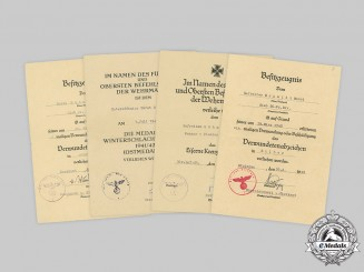 Germany, Heer. A Lot of Award Documents to Horst Schmidt, 20 Panzer-Division