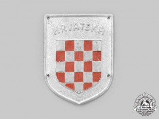 Croatia, Independent State. An Italian-Croatian Legion Badge c.1940