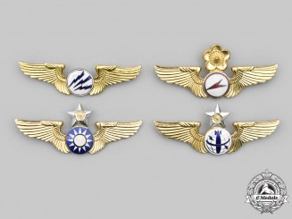 China, Republic. Four Republic of China Air Force Badges