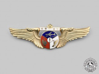 "China, Republic. A Republic of China Air Force Intelligence School ""Mainland"" Badge"