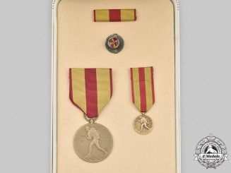 United States. A Marine Corps Expeditionary Medal, Cased