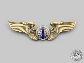 China, Republic. A Nationalist Chinese Air Force Bombardier Badge c.1947-1954