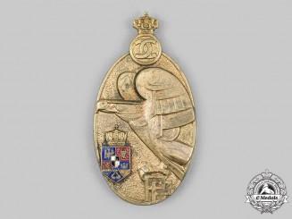 Romania, Kingdom. A King Carol Military Academy Graduate Badge, III Class Bronze Grade