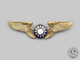 China, Republic. A Nationalist Chinese Air Force Pilot Badge c.1947-1954