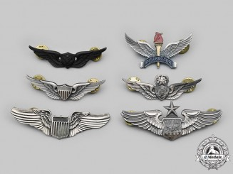 United States. A Lot of Six Air Force and Army Wings