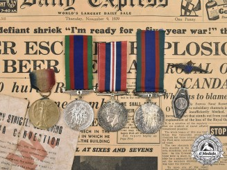 Canada, United Kingdom. A First and Second War Lot of Nine Items