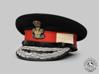 United Kingdom. The Royal Welsh Regiment Lord Lieutenant's Dress Cap of Sir George Hamer