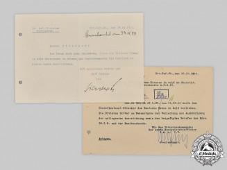 Germany, Heer. A Pair of German Cross in Gold Documents to Oberstleutnant Wolfgang Strecker