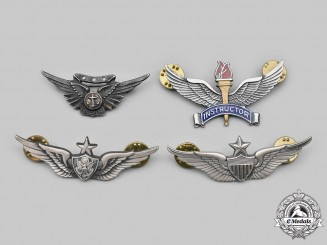 United States. A Lot of Four Marine Corps, Army and Air Force Badges