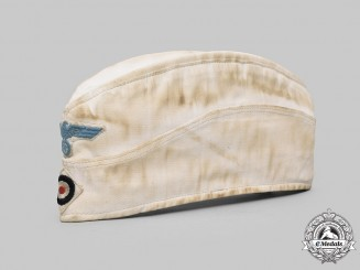 Germany, Kriegsmarine. An EM/NCO's Summer Uniform Overseas Cap, by Holz & Binkowski