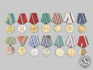 Bulgaria, People's Republic, Kingdom; Germany, Democratic Republic. A Lot of Fourteen Medals