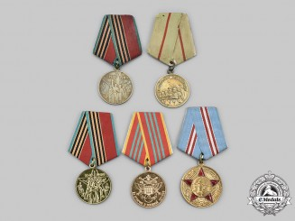Russia, Soviet Union & Federation. A Lot of Five Medals