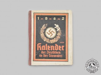 Germany, Third Reich. A 1942 Calendar of the German Community in Slovakia