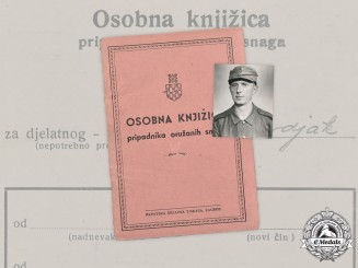 Croatia, Independent State. An Army Identity Booklet to Vladimir Matočec