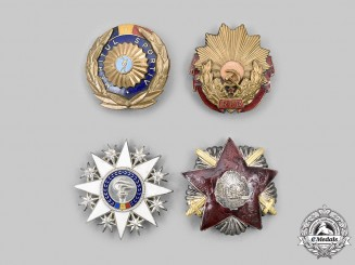 Romania, People's Republic. A Lot of Four Badges