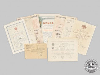Czechoslovakia. A Lot of Czechoslovakian Award Documents