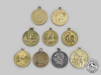 Russia, Soviet Union & Federation.  A Lot of Nine Medals
