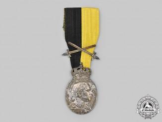Saxe-Coburg and Gotha, Duchy. A Duke Carl Eduard Medal, Military Division in Silver with Crown