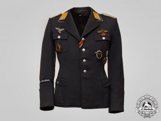 Germany, Luftwaffe. The Tunic and Awards of Bomber Ace Leutnant Alfred Sticht