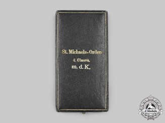 Bavaria, Kingdom. A Presentation Case for an Order of St. Michael, IV Class with Crown, by Jacob Leser